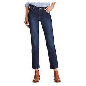 Lauren Ralph Lauren High Rise Dark Wash Jeans